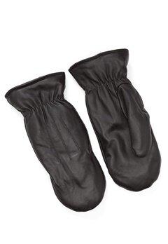 Pieces Nellie Leather Mittens Black Bubbleroom.no