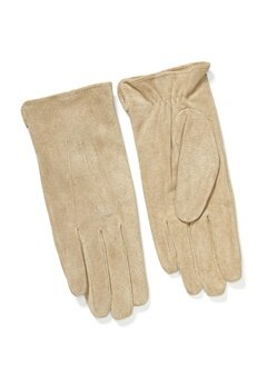 Pieces Nellie Suede Gloves Natural Bubbleroom.no