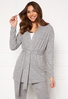 Pieces Pam LS Cardigan Light Grey Melange Bubbleroom.no