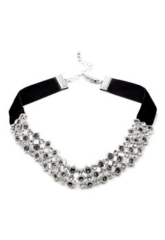 Pieces Racki Choker Necklace Silver Colour Bubbleroom.no