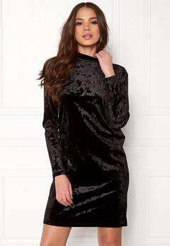 Pieces Rhine T-Neck Dress Black Bubbleroom.no