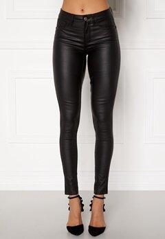 Pieces Shape Up Coated Jeans Black Bubbleroom.no