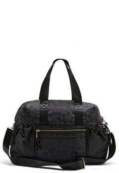 Pieces Siluna Nylon Weekend Bag Black AOP Leo Bubbleroom.no