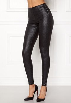 Pieces Skin Paro Leggins Shiny Black Bubbleroom.no