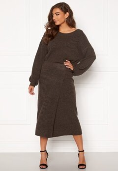 Pieces Suna HW Knit Skirt Mole Bubbleroom.no