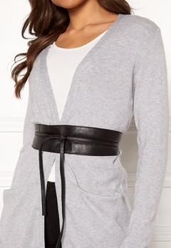 Pieces Vibs Leather Waist Belt Black Bubbleroom.no