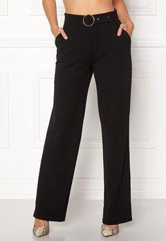 Pieces Vicca HW Vide Pants Black Bubbleroom.no