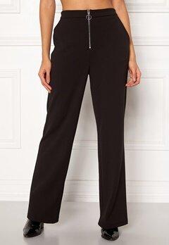 Pieces Vicca HW Zip Pants Black Bubbleroom.no