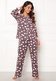 PJ. Salvage PJ Flannel Set Grey Bubbleroom.no