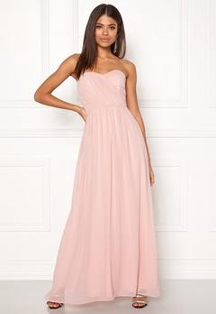 New Look Plain Bandeau Maxi Dress Shell Pink Bubbleroom.no