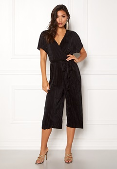 New Look Plain Wrap Jumpsuit Black Bubbleroom.no