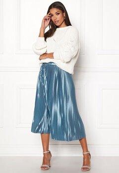 ICHI Pleat Skirt Blue Shadow Bubbleroom.no