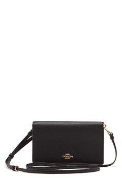 COACH Polished Pebble Foldover Black Bubbleroom.no
