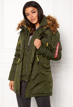 Alpha Industries PPS N3B Wmn Jacket Dark Green Bubbleroom.no