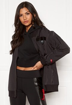 PUMA AL Long Bomber Jacket 001 Black Bubbleroom.no
