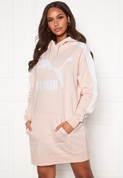 PUMA Classic T7 Hooded Dress Pink Bubbleroom.no