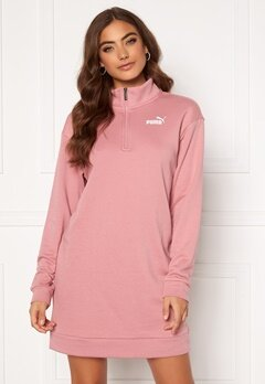 PUMA Ess + Half Zip Dress 016 Pink Bubbleroom.no