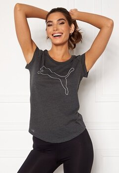 PUMA Performance Cat Tee Dark Gray Heather Bubbleroom.no