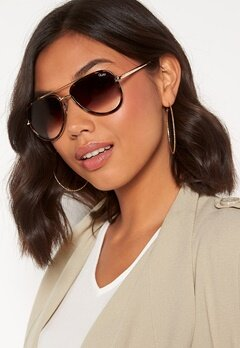 Quay Australia All In Mini Sunglasses Tort/Brown Fade Lens Bubbleroom.no