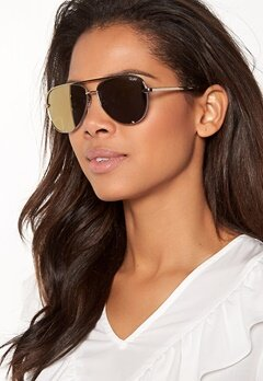 Quay Australia High Key Mini Sunglasses Gold/Gold Mirror Bubbleroom.no