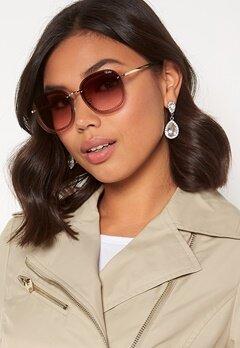 Quay Australia Jezabell Chain Sunglasses Gold/Brown Pink Bubbleroom.no