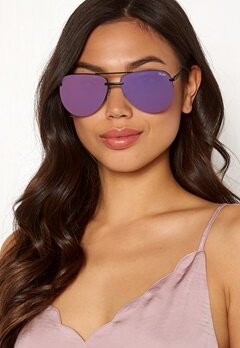 Quay Australia The Playa Sunglasses Black/Purple Mirror Bubbleroom.no