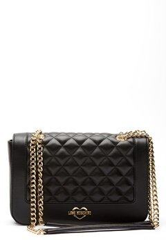 Love Moschino Quilted Big Chain Bag Black/Gold Bubbleroom.no
