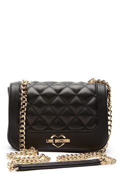 Love Moschino Quilted Small Chain Bag Black/Gold Bubbleroom.no