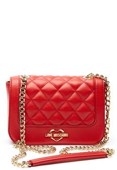 Love Moschino Quilted Small Chain Bag Red Bubbleroom.no