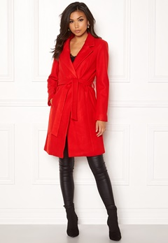 ONLY Rachel Wool Coat Goji Berry Bubbleroom.no