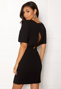 OBJECT Raisa S/S Plissé Dress Black Bubbleroom.no