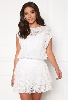 Ravn Bee Dress White Bubbleroom.no