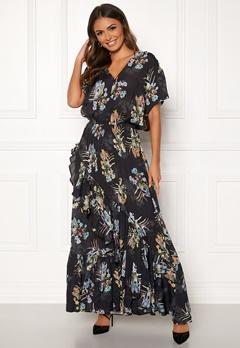 Ravn Livio Dress Black Flower Bubbleroom.no