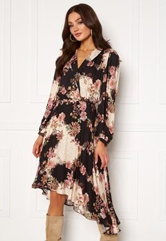 Ravn Regina Dress Flowerprint Black Bubbleroom.no