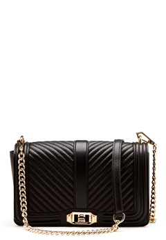 Rebecca Minkoff Love Crossbody Pebble Bag Black Bubbleroom.no