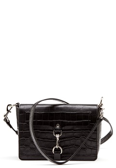 Rebecca Minkoff Map Flap Crossbody Bag Black Bubbleroom.no