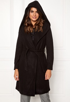 ONLY Riley Wool Wrap Coat Black Bubbleroom.no