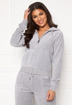 Juicy Couture Robertson Classic Velour Hoodie Light Grey Marl Bubbleroom.no