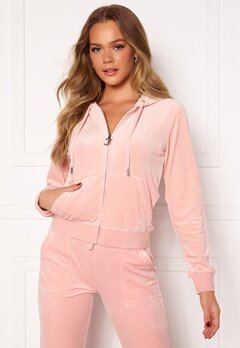 Juicy Couture Robertson Classic Velour Hoodie Pale Pink Bubbleroom.no