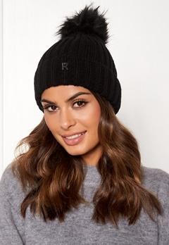 ROCKANDBLUE Hat Pom Pom Beanie Knit Black Bubbleroom.no