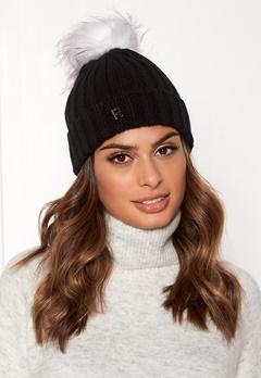 ROCKANDBLUE Hat Pom Pom Beanie Knit Black/Bleached Bubbleroom.no