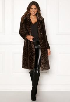 ROCKANDBLUE Penny Faux Fur Brownish/Leopard Bubbleroom.no
