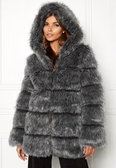 AMO Couture Rubens Faux Fur Coat Silver Fox Bubbleroom.no