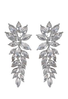 SNÖ of Sweden Rush Pendant Earrings Silver/Clear Bubbleroom.no