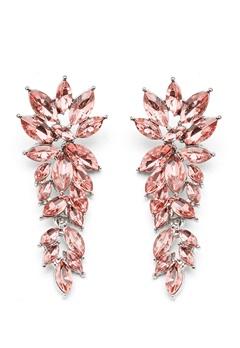 SNÖ of Sweden Rush Pendant Earrings Silver/Light Pink Bubbleroom.no