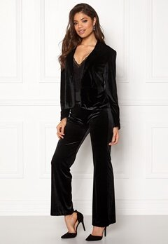 Rut & Circle Adina Velvet Jacket Black Bubbleroom.no