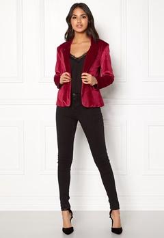 Rut & Circle Adina Velvet Jacket Rococco Red Bubbleroom.no