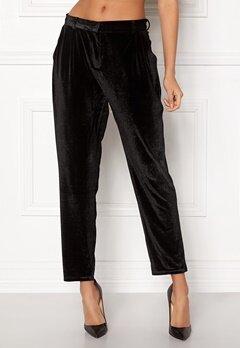 Rut & Circle Adina Velvet Pant Black Bubbleroom.no