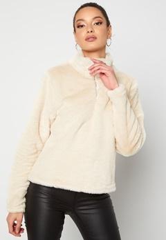Rut & Circle Alex Fur Sweater Sand Bubbleroom.no