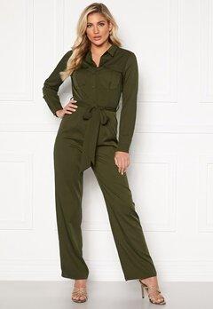 Rut & Circle Alice Workwear Jumpsuit Khaki Green Bubbleroom.no